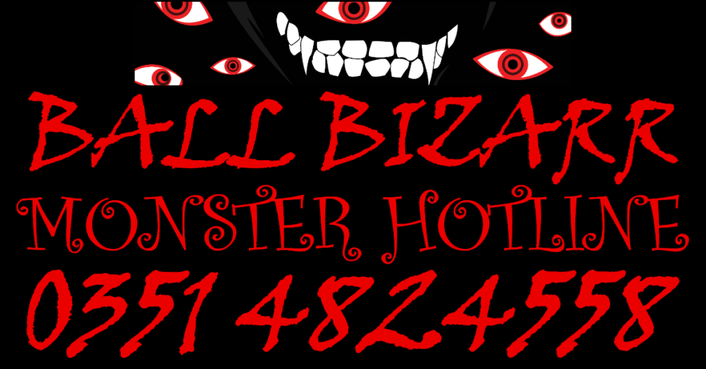 Ticket Hotline Halloween Party Ball Bizarr